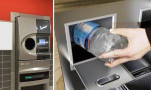 Eco-compattatori in città per riciclare lattine e bottigliette di plastica